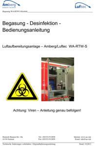 Betriebs u. Wartungsanleitung Lufaufbereitungsanlage Ambulanzen