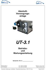 Atemluft Betriebs u. Wartungsanleitung UT 3.1