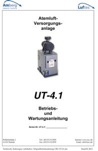 Atemluft Betriebs u. Wartungsanleitung UT 4.1