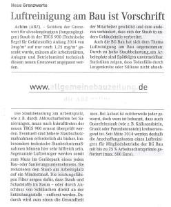 Pressemitteilung Luftreinigung