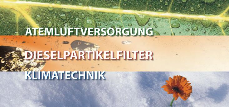 Atemluftversorgung, Dieselpartikelfilter, Klimatechnik